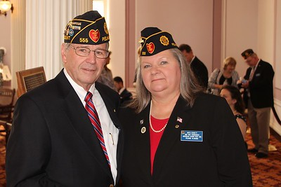 L-R: Ron Koonce, Post Adjutant, Anita Bennett, Post 2nd Vice Commander