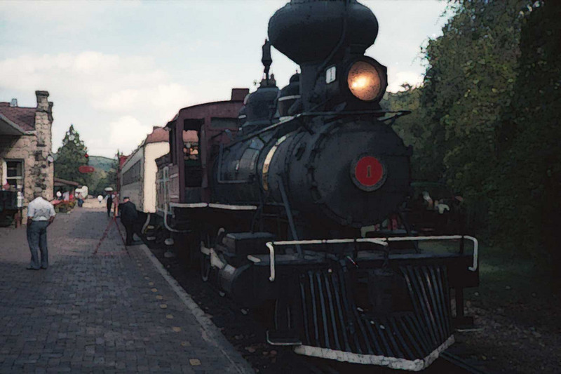 Eureka Springs and North Arkansas Railway.<br /> Scanned from an old slide.