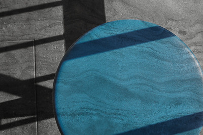 Shadows And Blue Stool & Rock Pattern