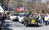 The convoy will be welcomed in Carlsfeld. In the two vans behind the convoy leader are the veterans with wifes and family
