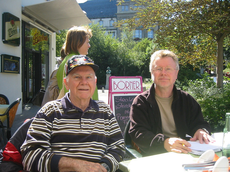 Tom Stafford and the Director of the Plauen Museum