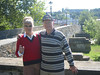 Gayla and Tom Stafford by the Elster Bridge