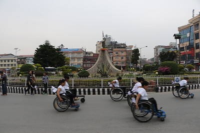 5k Wheelchair Race, Jawalakhel, Kathmandu. April 2016