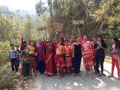 International Women's Day. Nuwakot. February 2016