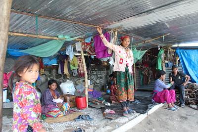 Shanti Bajaar IDP Camp, Nuwakot. June 2015.