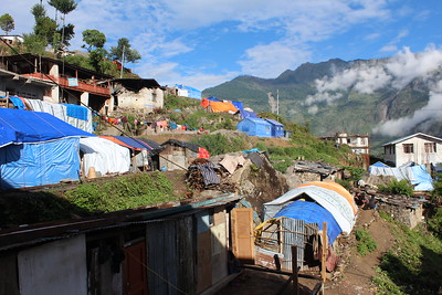 IDP Camp in Dhunche, Rasuwa. June 15th