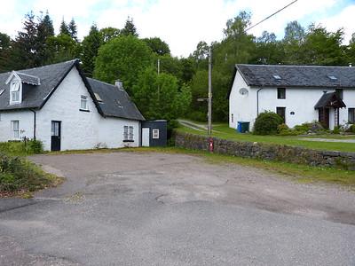 PH35 57 - Aldernaig Burn, between former Invergarry shop and Old Aldernaig Mill, A87, Bridge of Oich 150630 150 location