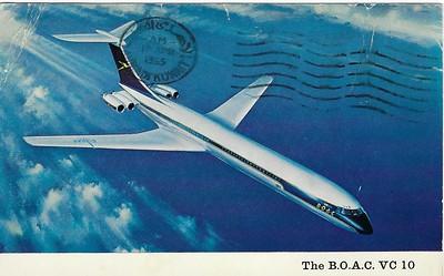 BOAC VC10 perhaps 1964 or 5 Dad