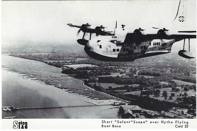 BOAC SCAPA flying boat over Hythe