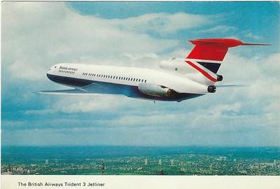 British Airways Trident 3 & 2  to Gibraltar 22 -031