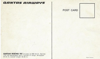 Qantas Airways Being 707-001