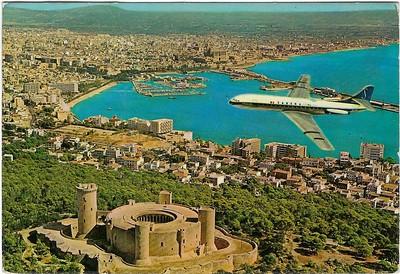 Sabena Caravelle Superimposed Palma Majorca from 1975