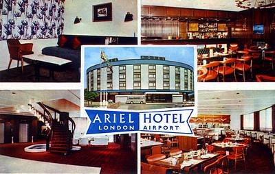 Ariel Hotel, Heathrow Airport c 1972