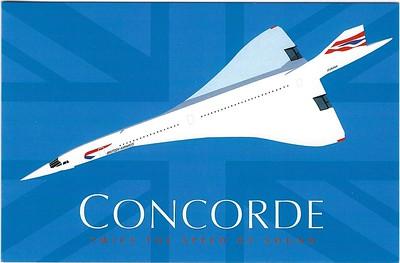 Concorde Greeting Card 2017
