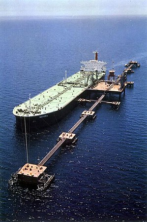 """The Sea Island. Shell Tanker's Medora, 210,658dwt, Built 1968, 1979 converted to Floating Storage Unit """"Fulmar FSU"""". In 1988 she  broke free of her moorings in gale-force winds, whilst serving 3 oilfields. Oil from the three fields went by pipeline to a seabed junction one and a half miles from Fulmar. It then travelled to the tanker which distributed it to smaller ships. The Medora drifted south-east for five hours before three tugs managed to put lines aboard and pull her to safety. She was taken to Stavanger in Norway for tests and repairs."""