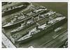 1940 QUEEN ELIZABETH QUEEN MARY NORMANDIE New York 3 Largest Liners