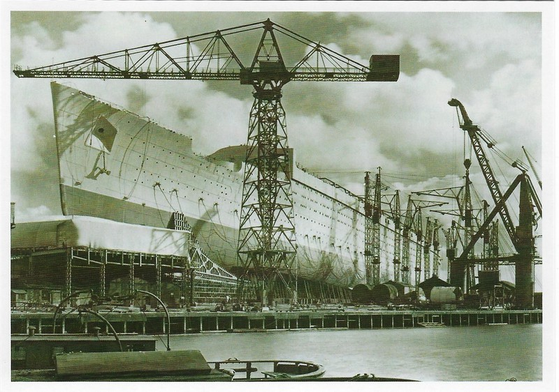 QUEEN MARY Hull 534 John Brown Shipyard Clydebank