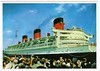 QUEEN MARY Sails from New York 1950s