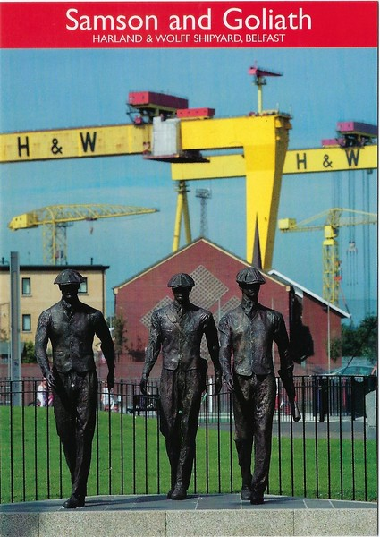 Bronze Statues Workers H&W Samson & Goliath Cranes Belfast