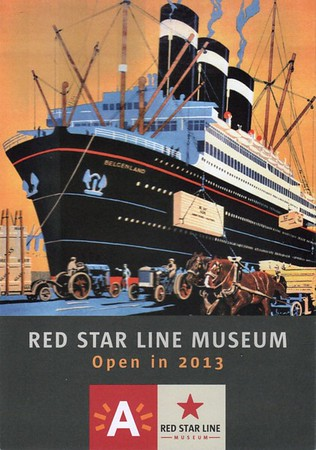 Red Star Line Museum Info Leaflet BELGENLAND Cutaway 2013