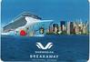 NORWEGIAN BREAKAWAY Magnetic Postcard Inaugural Season 2013