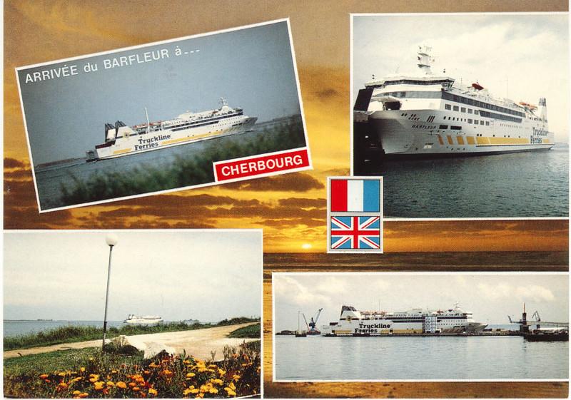 BARFLEUR Truckline Ferries Cherbourg card from 2009