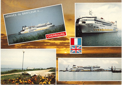 BARFLEUR Truckline Ferries Cherbourg card from 2009