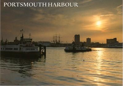 Portsmouth Harbour Night Gosport Ferries HMS Warrior Wightlink