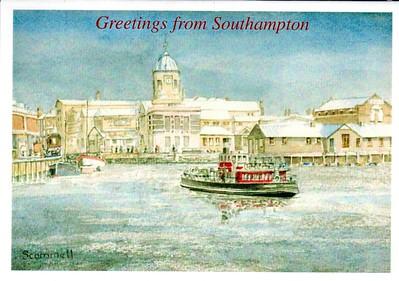 Southampton Christmas Card Hythe Ferry perhaps