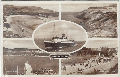 ss SNAEFELL [5] Port Erin IoM from 1952