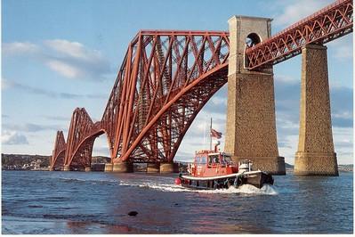 Pilot Launch Forth Rail bridge