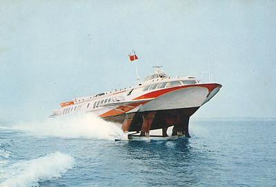 Kometa Russian Hydrofoil on the Thames Aug 1968