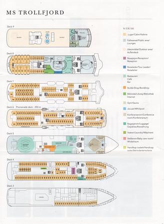 TROLLFJORD Deck Plans 2014