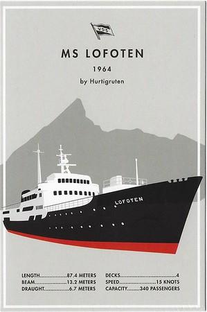 ms LOFOTEN Postcard Hurtigruten 2016