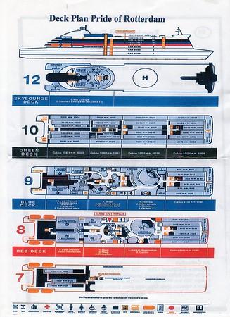 PRIDE OF ROTTERDAM Deck Plan
