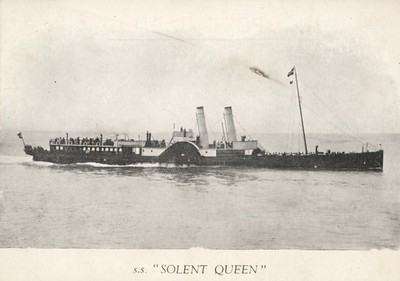 SOLENT QUEEN [1] 1889 Red Funnel SIWSERMSPCo