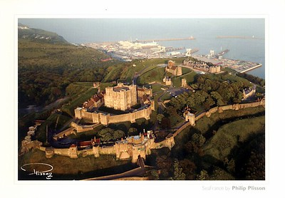 Dover Castle & Ferry Terminal 1 SeaFrance by Philip Plisson