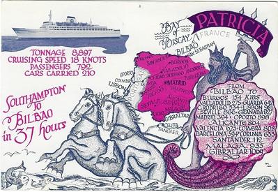 PATRICIA 1967 Southampton Bilbao became LION QUEEN CROWN PRINCESS