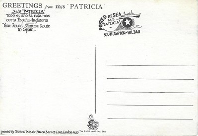PATRICIA 1967 Southampton Bilbao became LION QUEEN CROWN PRINCESS-001