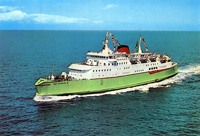 Townsend-Thoresen's Free Enterprise IV [c 1971] travelled Dover - Zeebrugge & return in April 1971. [in 2004 she sails in Egypt as Tag Al Salam]