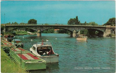 Staines Bridge River Thames from 1977