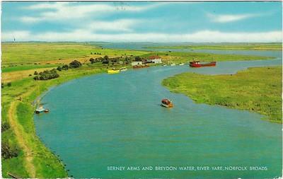 Berney Arms Breydon Water River Yare Norfolk Broads from 1967