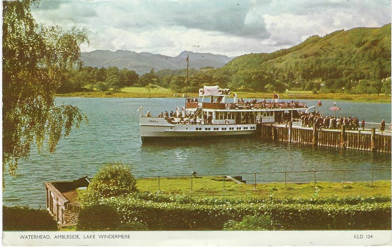 SWAN 1936 Ambleside lake Windermere from 1956