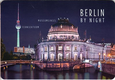 TV Tower Bode Museum Night Berlin from 2016