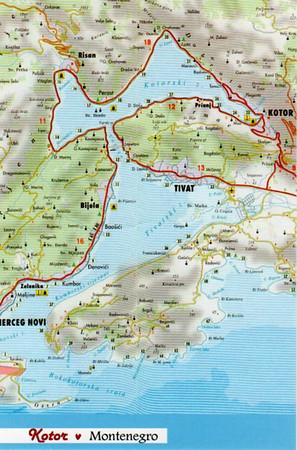 2013 Map of kotor Bay