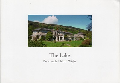 The Lake Bonchurch IOW Advert leaflet from 2013