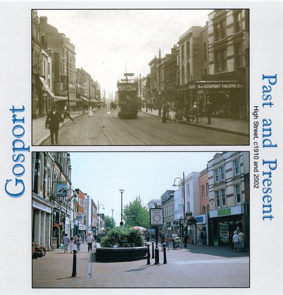 Gosport High Street c1910 & 2002