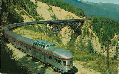 THE CANADIAN Canadian Pacific Dome Streamliner Rockies from 1968