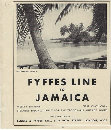 Fyffes Line to Jamaica Advert