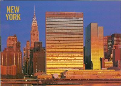 East River Skyline Chrysler & United Nations Buildings New York 2017